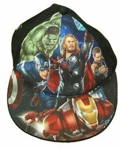Marvel Avengers Snapback Hat Boys Cap Captain Hulk Iron man Thor Black Panther