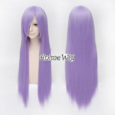 Purple Long Straight For Legend of Sanctuary Athena Women Lady Anime Cosplay Wig