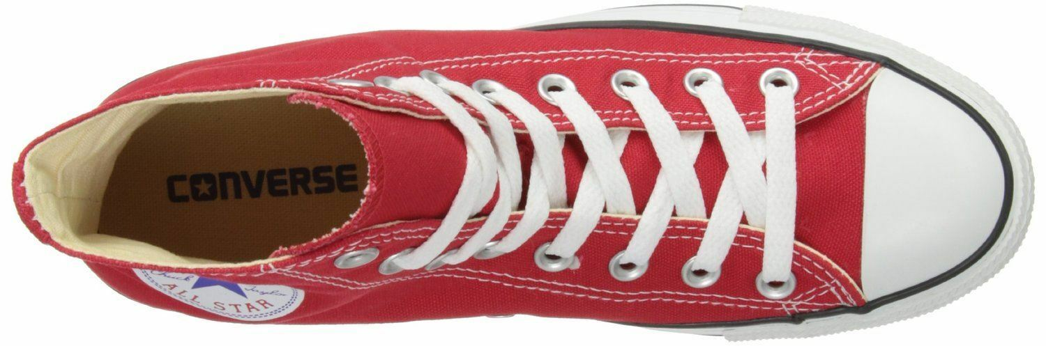 Converse Chuck Taylor Taylor Taylor All Star Red White Hi Unisex Trainers Stivali 008306
