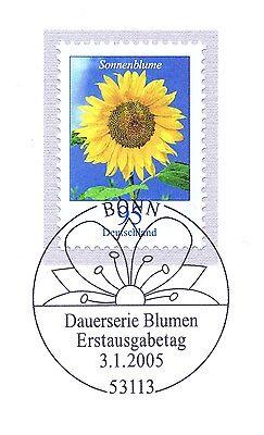 Brd 2005: Sonnenblume Nr 2434 Mit Sauberem Bonner Ersttags-sonderstempel 1a 1906