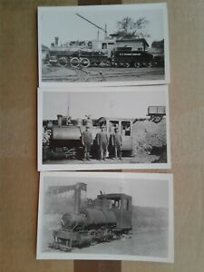 S-D-Warren-Railway-railroad-train-postcards-Westbrook-Maine-RPPC
