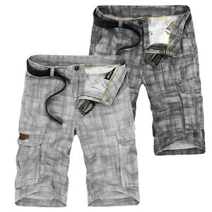 sexy herren hosen leinenhose sommer shorts jeans leinen chino cargo kurze hose ebay. Black Bedroom Furniture Sets. Home Design Ideas