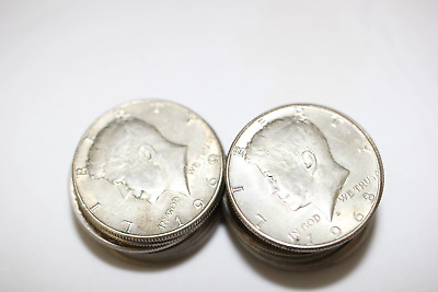 1965-1969 JFK Kennedy Half Dollar $10 Face Roll 40/% Silver Coin Bulk Lot 20