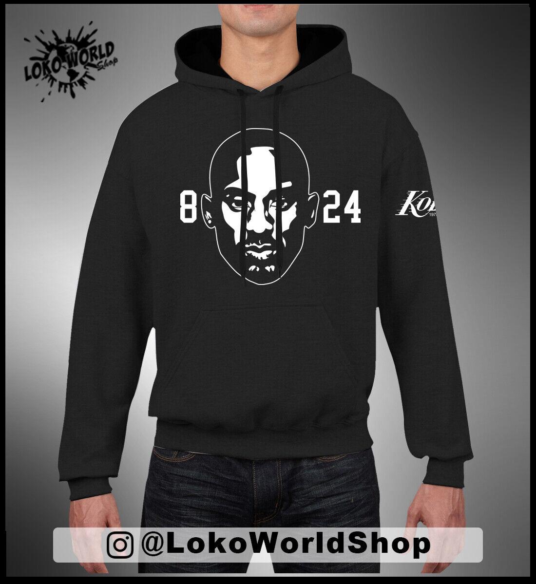 Herren Basketball Hoodie Kobe Bryant # 8 Los Angeles Lakers Hoodie Lose