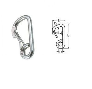 HOOK SNAP ASYMETRIC G316 S/S M12 X 125mm CARABINER