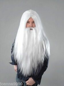 Long-White-Merlin-Wizard-Santa-Fancy-Dress-Wig-and-Beard-for-Halloween-Costume
