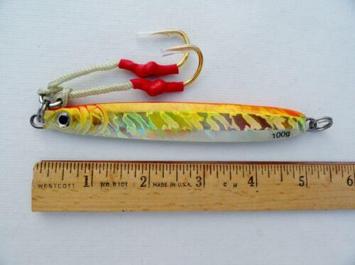//100 g pêche leurres Sélectionnez les couleurs 1 Un environ 99.22 g vertical couteau Jigs 3.5 Oz