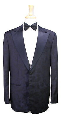 7fe0dbfd6c7 Details about NWD New * KITON * Black/Navy Tone Camouflage Dinner Tuxedo  Jacket Blazer 42L