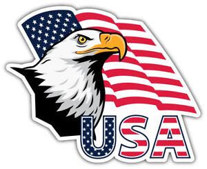 USA Flag Eagle Head Car Bumper Sticker Decal /'/'SIZES/'/'