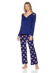 4dff6b7a925f6 Lamaze Nursing Maternity Womens 2 Pc Long Sleeve Pajama Set with ...