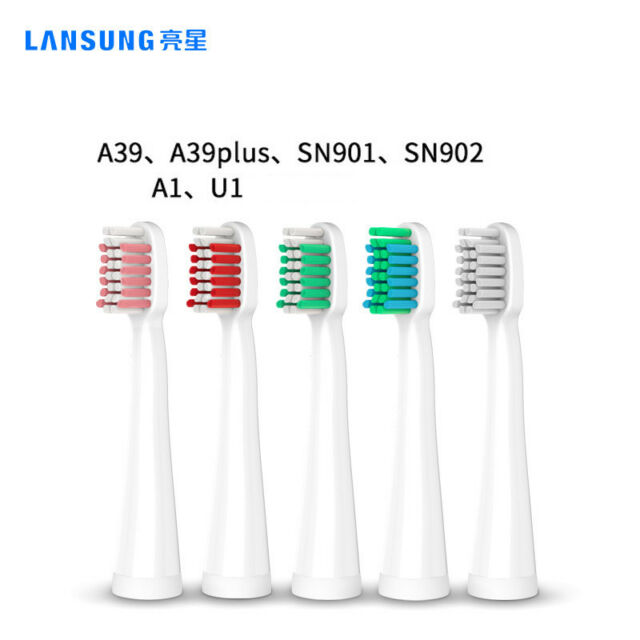 AU LANSUNG 10Pcs Electric Toothbrush Replacement Head Fit  U1 A39 A39PLUS SN901