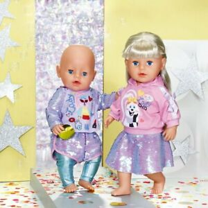 Zapf-Creation-Baby-Born-Fashion-Sequin-Outfit-For-39-43cm-Dolls