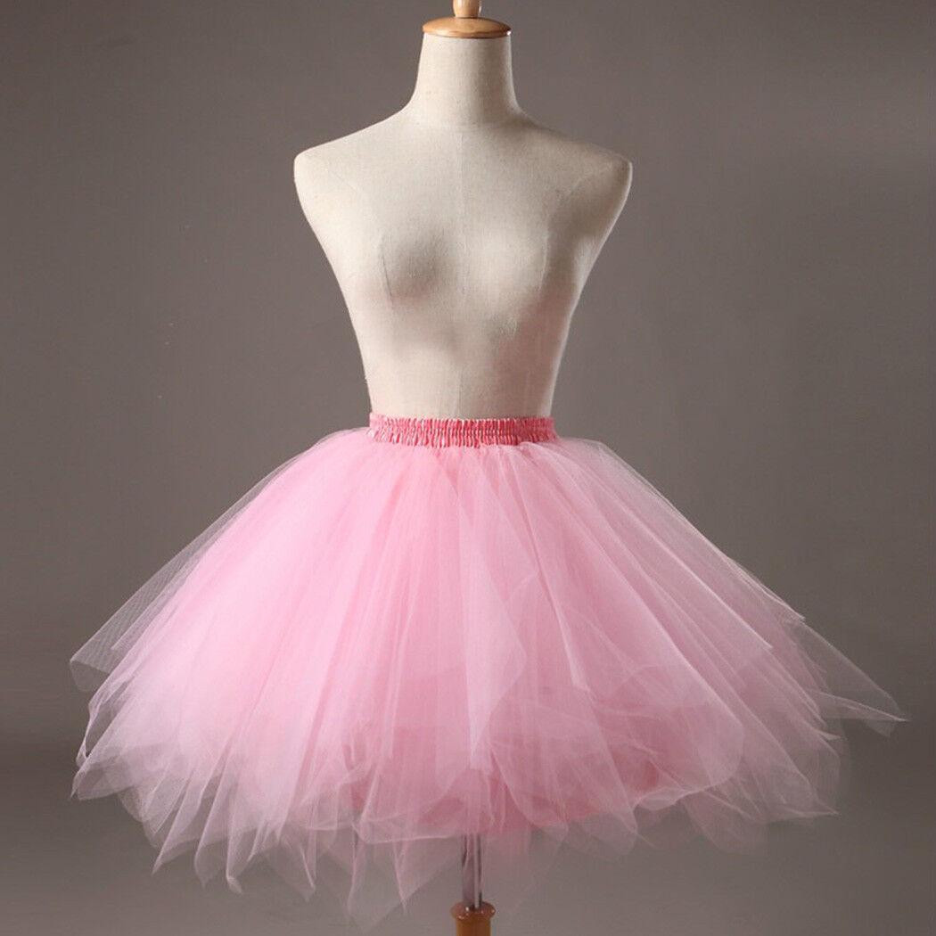 Hot Women Adult Lady Tutu Tulle Skirt Fancy Skirt Dress Up Party Dancing Dress 6