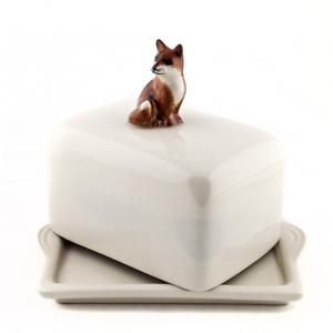 Quail Ceramics - Fox Butter Dish