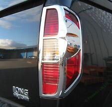 LUCE Posteriore Cromato Surround Trim per Nissan Navara d40 DOUBLE CAB TAIL LAMP 2005