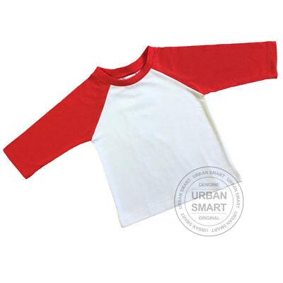 "Grey Body Black Sleeve Baseball Shirt. /""Urban Smart/"" Infant Baby Raglan Blanks"