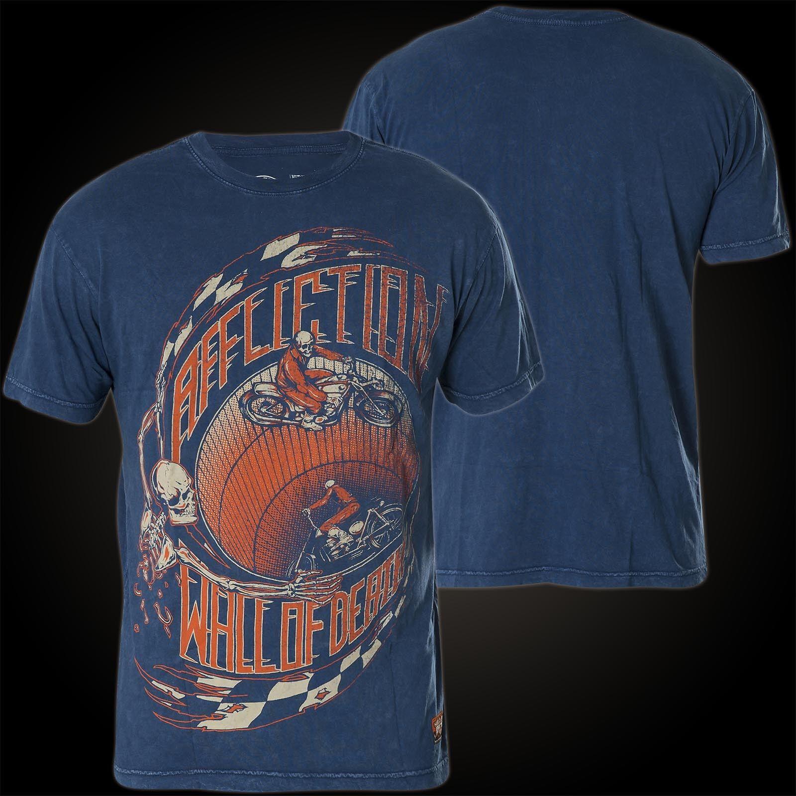 Affliction T-Shirt Wall Of Death bluee