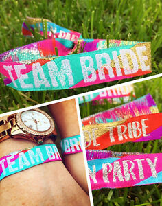 "100% De Qualité Équipe Mariée (multicolore) Hen Do Bracelets-mariée Tribu-hen Parti Faveurs-) Hen Do Wristbands - Bride Tribe - Hen Party Favours "" afficher Le Titre D'origine"
