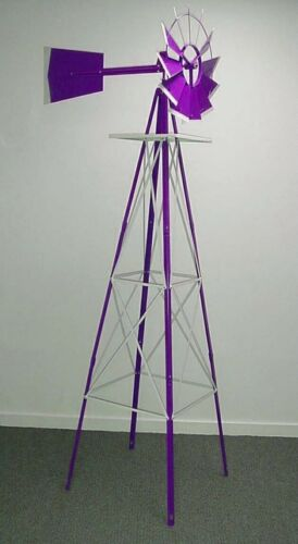 Miniature 8 Ft Windmill 8 ft Purple silver Tips.62..48A-P American Farm Style