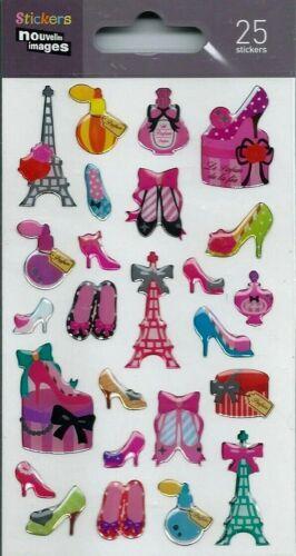 Stickers 3d pour ordinateurs ou  consoles Paris fille planche 14 cm x 7,5 cm