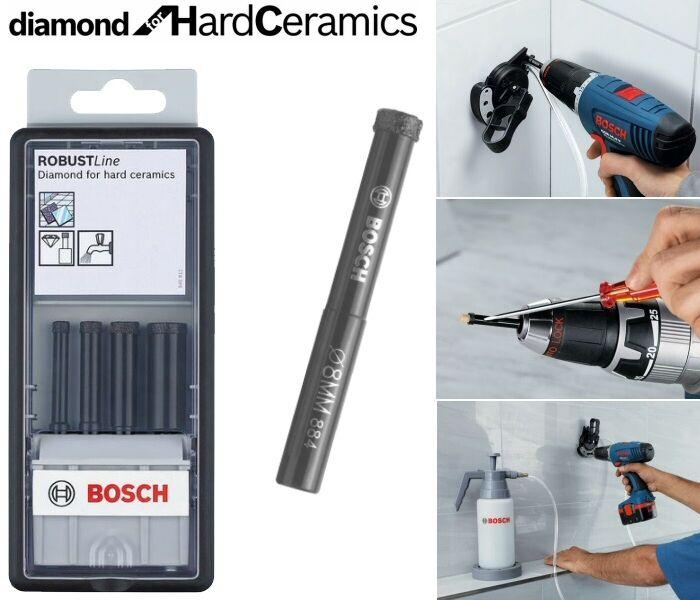 Bosch Diamant Naß-Fliesenbohrersatz 4 tlg. 2607019880 Diamond for Hard Ceramics | Vielfalt  | Züchtungen Eingeführt Werden Eine Nach Der Anderen  | Helle Farben