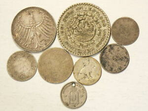 1876-to-1965-World-Coins-Lot-of-8-Silver-Coins-4164