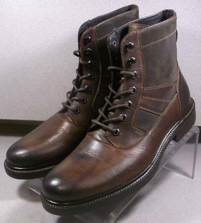 208746 FTBT50 Mens' shoes Size 9 M Brown Leather Lace Up Boots Johnston Murphy