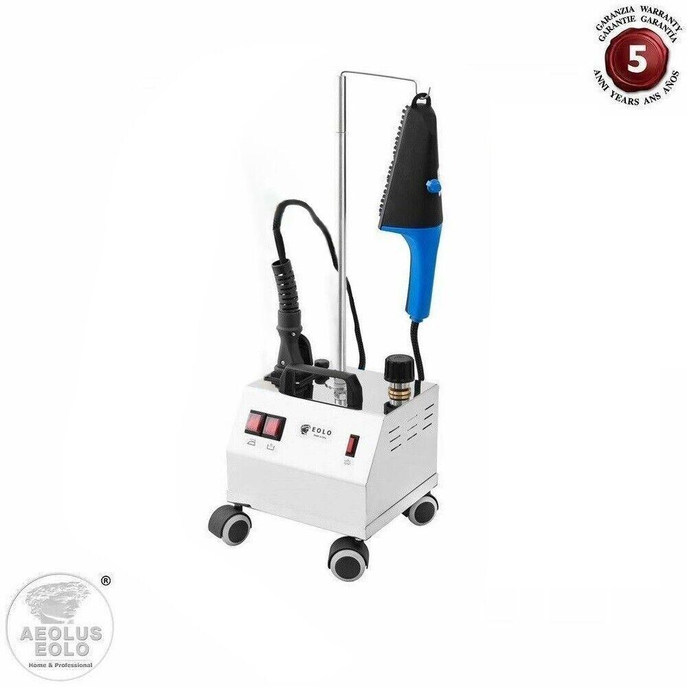 EOLO Cepillo de Vapor Profesional con Caldera de Acero  AV02 INOX