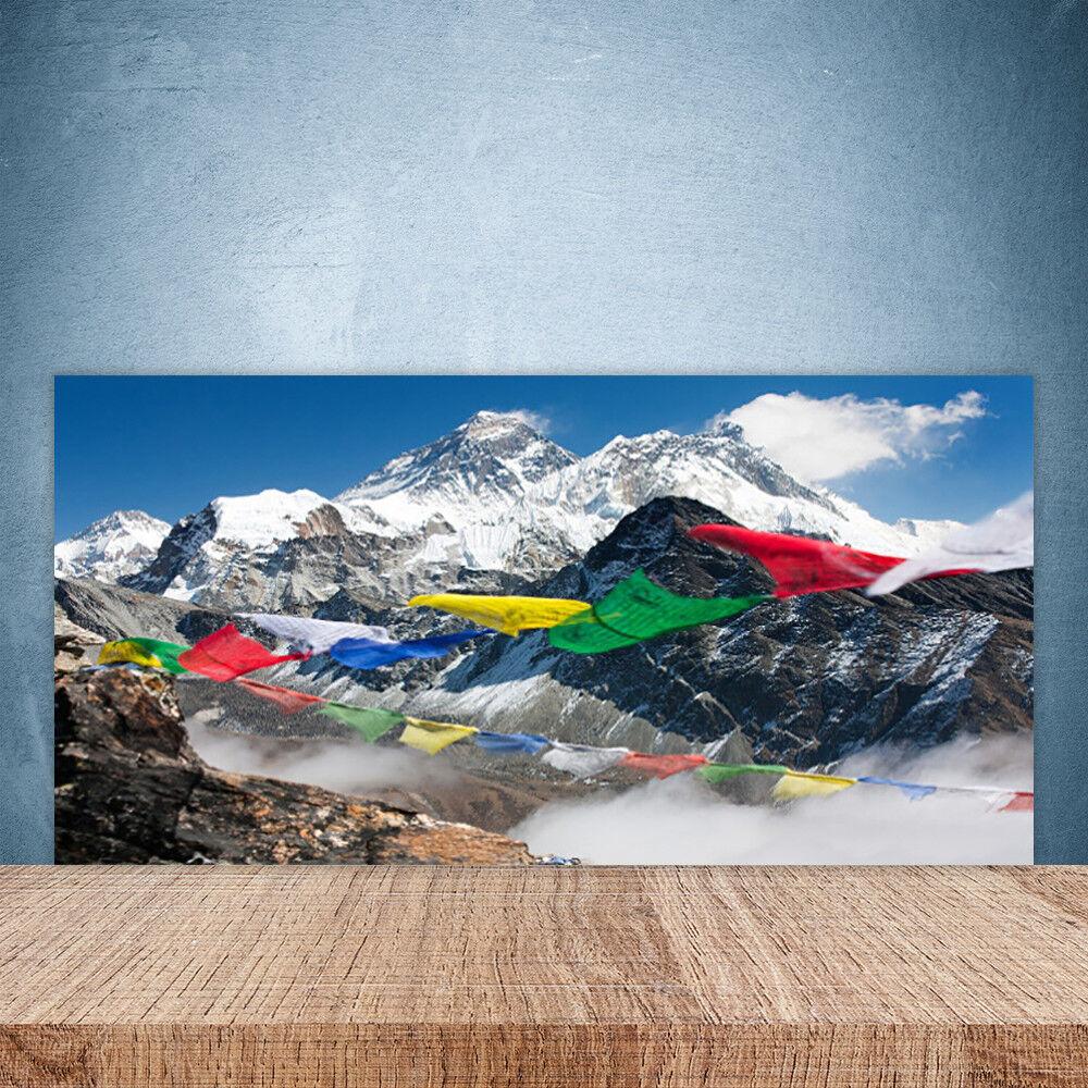 Crédence Crédence Crédence de cuisine en verre Panneau Paroi 100x50 Paysage Montagnes 59b88a