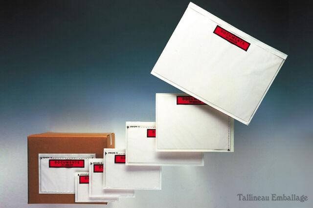 15 pochettes adhesives document ci inclus A4 plié en 4