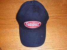PETERBILT red/white logo patch on black trucker ball cap New hat