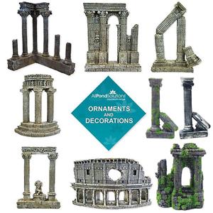Roman Column Colosseum Ruins Ornament Aquarium Fish Tank Decoration Features Ebay