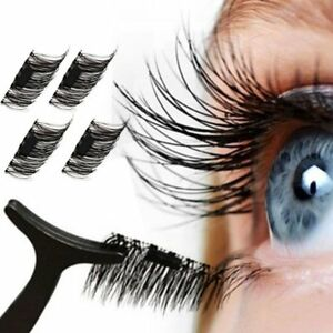 fcd4e053a6f Image is loading Magnetic-False-Eyelashes-Extension-4Pcs-Natural-Look-100-