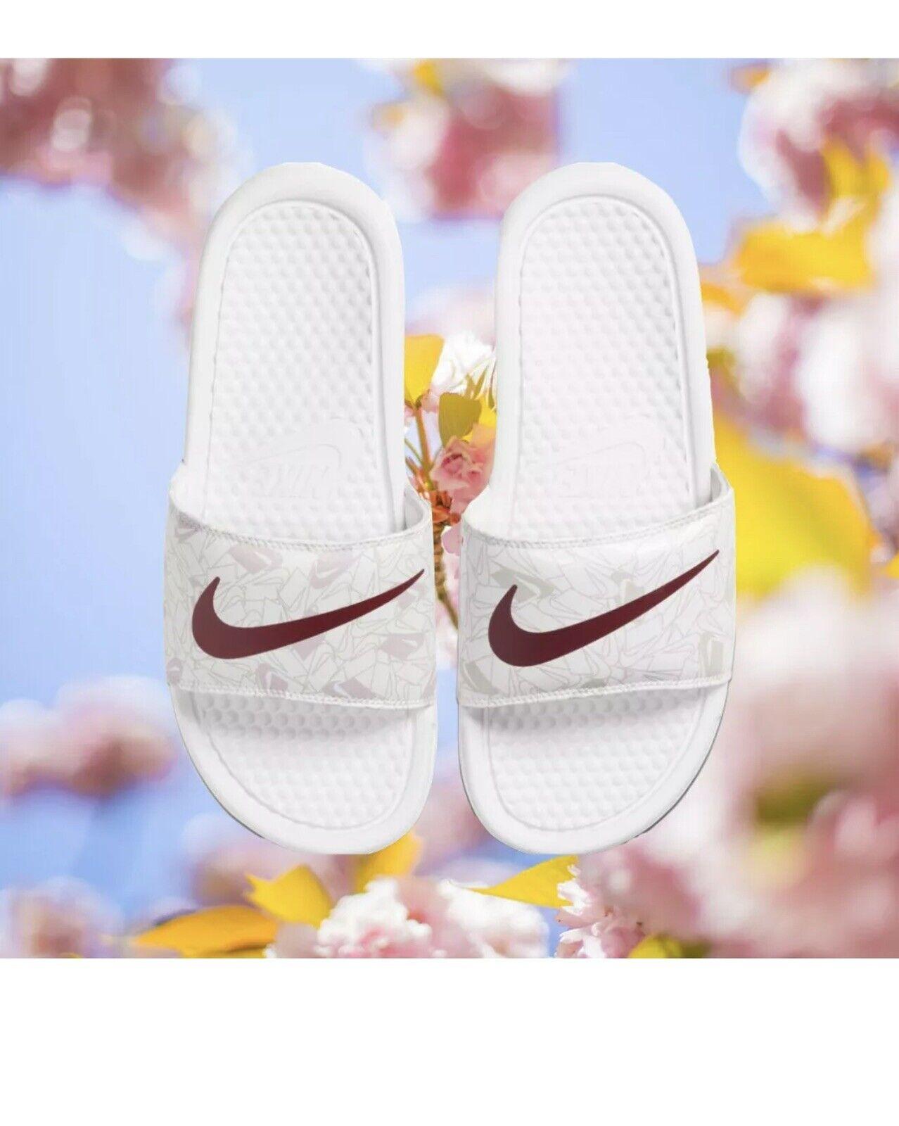 Nike Benassi Jdi curseurs Imprimé Motif-UK 6.5 US 9 EU 40.5 618919-117 Femmes