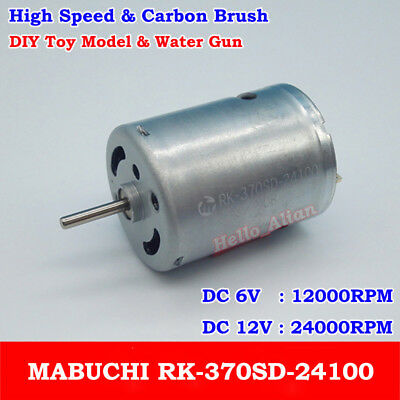 Mini 180 Motor DC 12V 24V 9600RPM Long Shaft Carbon Brush DC Motor for DIY Parts