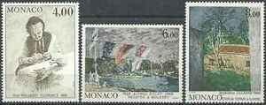 Topical Stamps Careful Timbres Arts Tableaux Monaco 1693/5 ** Lot 8017 Moderate Price
