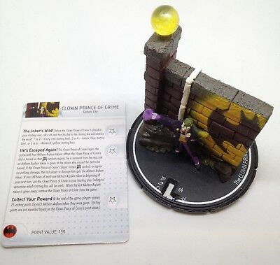 Heroclix Arkham Asylum set Clown Prince of Crime #161 LE figure w//card!