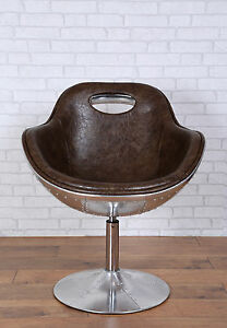 Charmant Image Is Loading Aviator Swivel Egg Chair Bonded Leather Kitchen Dining