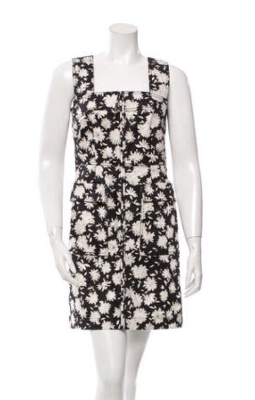 Tory Burch Floral Print front Zipper Dress, Small