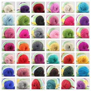 C 1Ball x50g Soft Worsted Chunky Hand Sweater Wool Knitting Yarn DIY Gift 215
