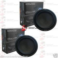 """2 x KENWOOD KFC-XW1200F 12"""" SINGLE 4-OHM SHALLOW MOUNT CAR SUBWOOFER 350W RMS"""