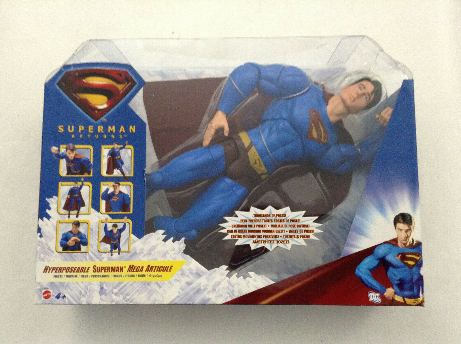 Superman Returns hyperposeable Superman 14  Figura Dc Mattel Nuevo (Renacimiento 52 jla
