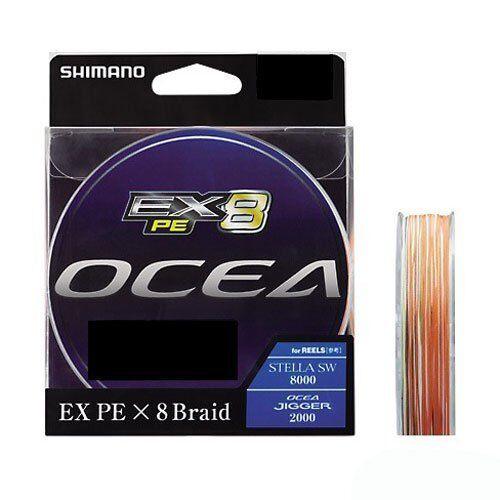 Shimano OCEA EX8 PE Braid  2.5 50lb 300m MultiFarbe PL-O78L Fishing Japan New