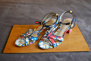 Boden-Flower-Print-Canvas-amp-Leather-Block-Heel-Sandals-size-UK-6-EURO-39-AR845