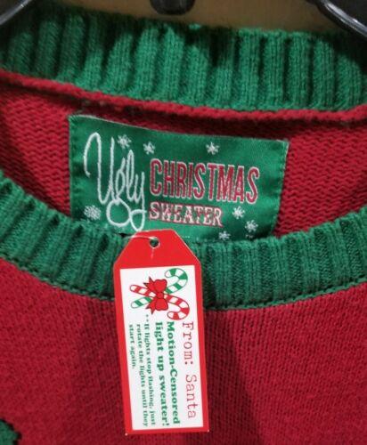 Light Mens de movimiento Christmas Ugly Nwt S Reindeer Tree Sensor Sweater Up xZYxqwEf