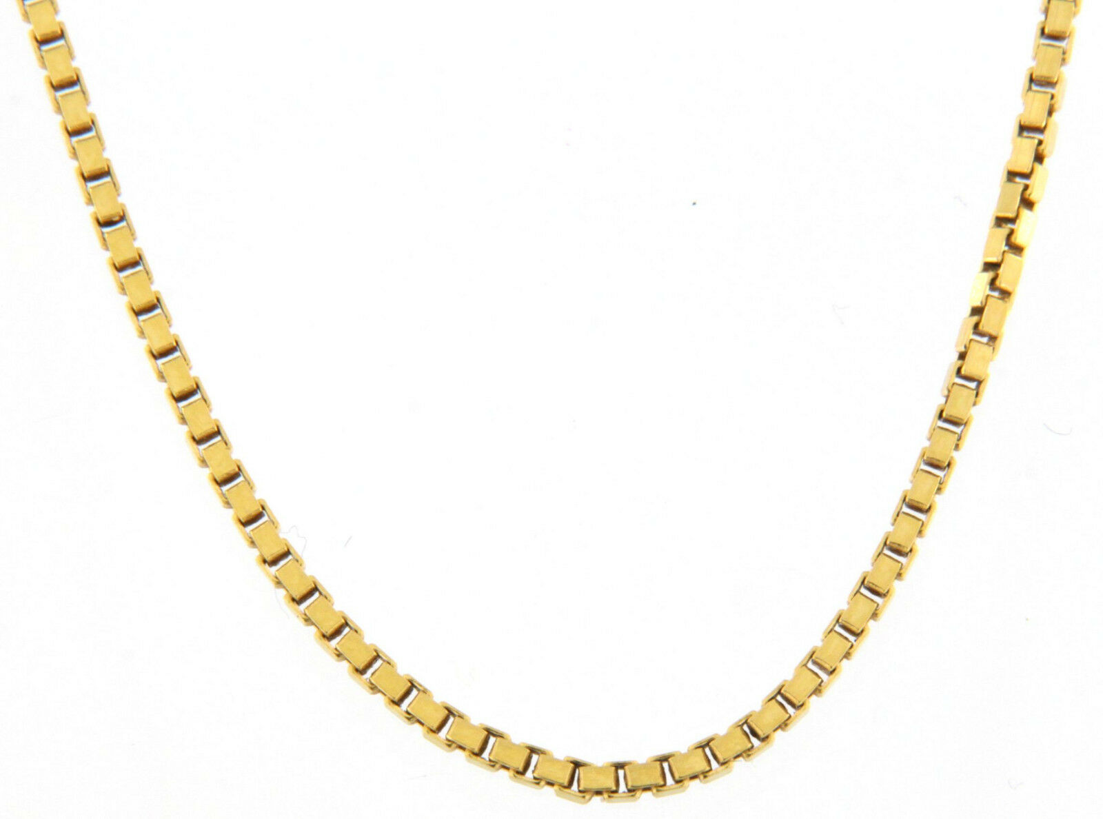 Unisex 23  Box Link Chain 18kt Yellow gold