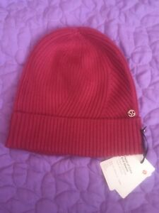 47f03fb53 Details about NWT Lululemon Twist If Cozy Knit Beanie Toque O/S VLRD