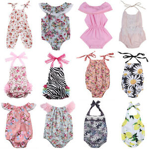 e3575afd7 Newborn Infant Baby Girl Floral Bodysuit Romper Jumpsuit Sunsuit ...