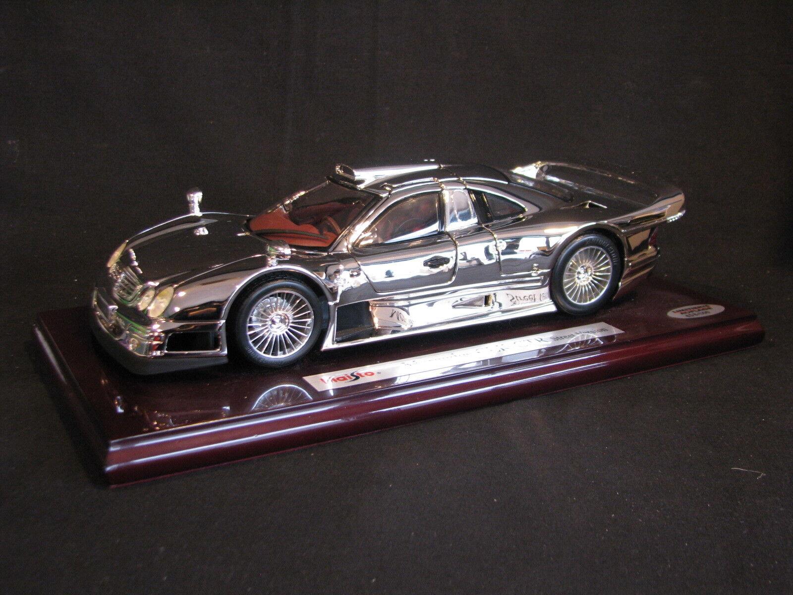 Maisto Mercedes-Benz CLK-GTR Street Version 1 18 Rhodium Plated (JS)  2