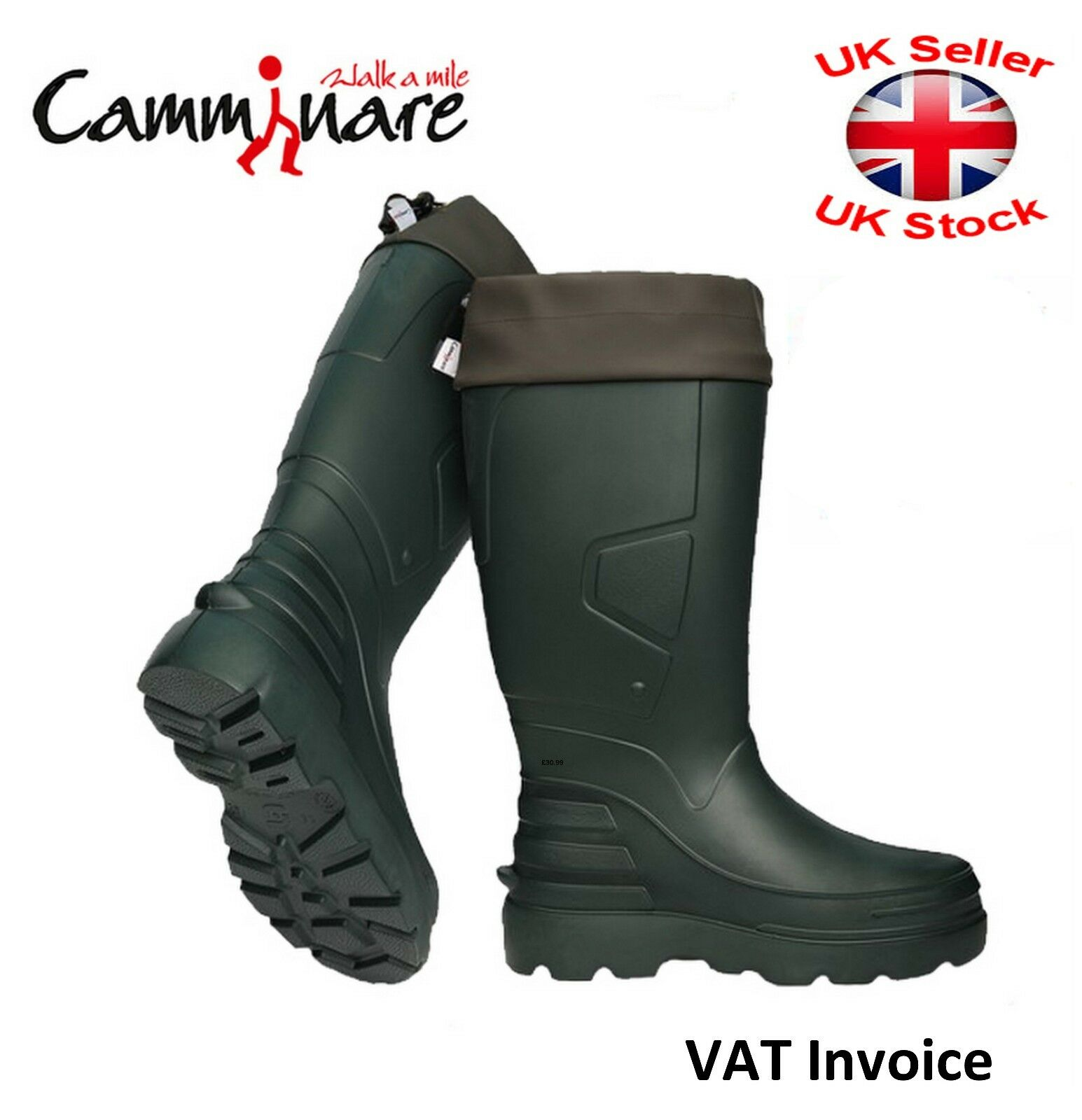 Camminare Thermal LIGHTWEIGHT EVA MATERIAL Wellies Wellingtons Boots Forester